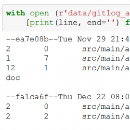 Reading a Git log file output with Pandas