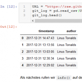 Mini-Tutorial: Git-Log-Analyse mit Python und Pandas (German)