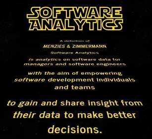 Data Analysis in Software Development